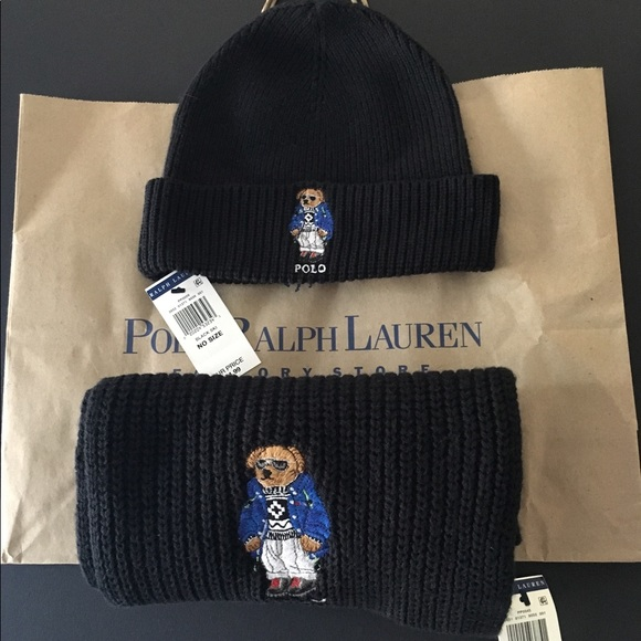 7bb02d9c226a Polo by Ralph Lauren Accessories   Rare Ralph Lauren Polo Bear Beane ...